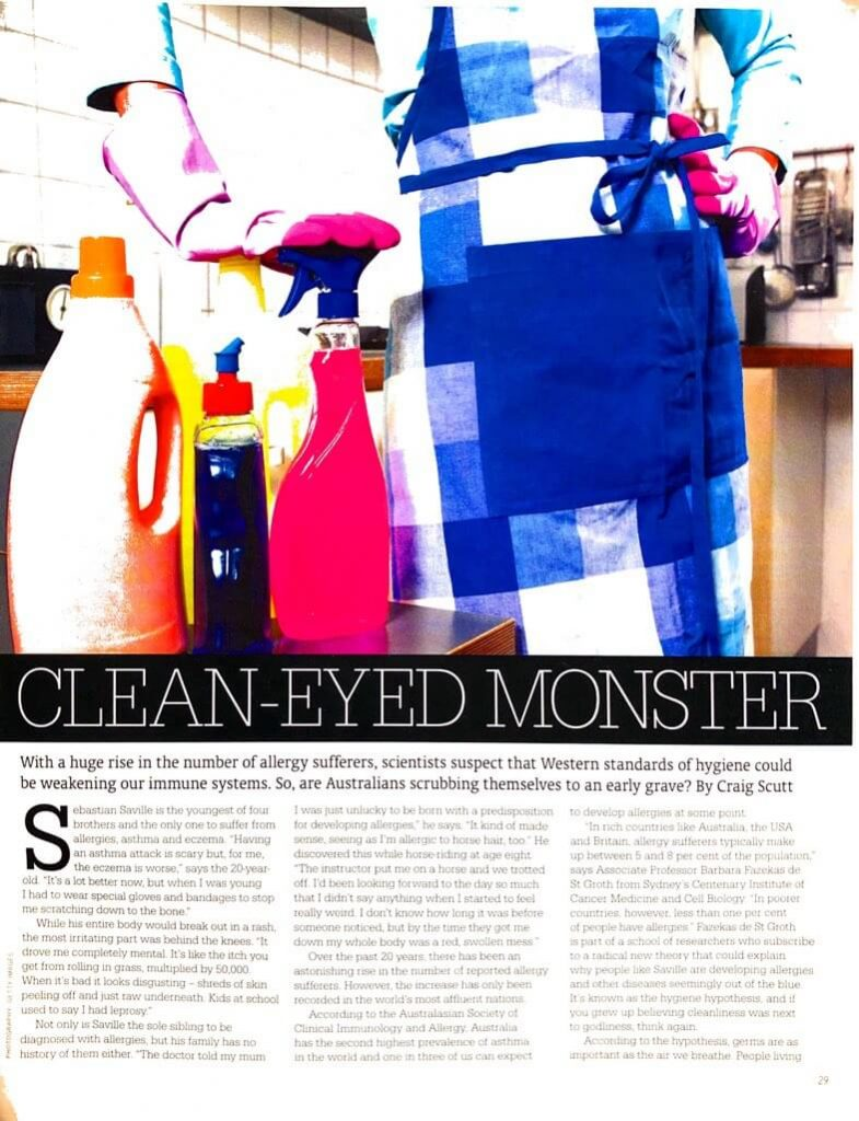 Feature story extract from Sunday Magazine